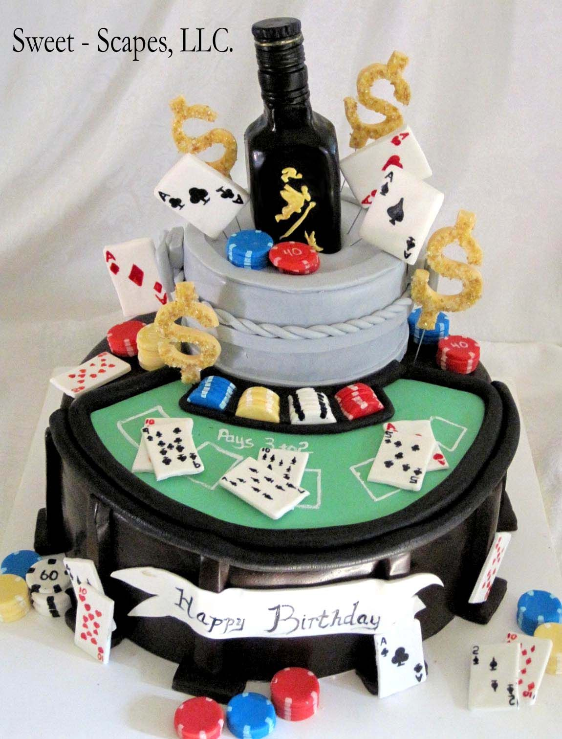 Patron Birthday Cake Men