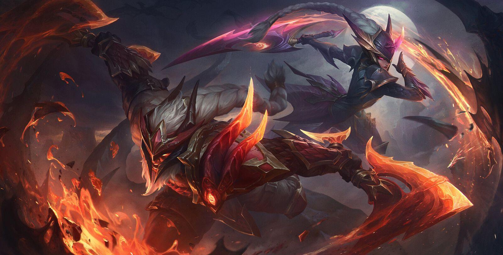 League of Legends - Dragon-Slayer-Olaf&Diana, XiaoGuang Sun