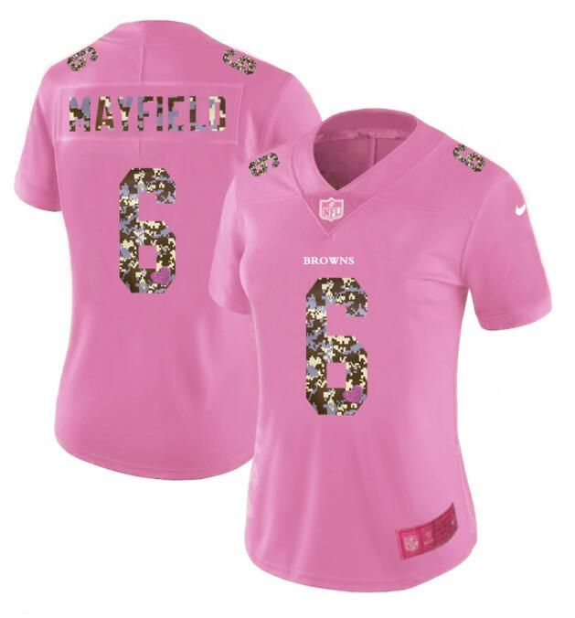 Discount Nike Panthers #12 DJ Moore Pink Women's Stitched NFL Limited Rush