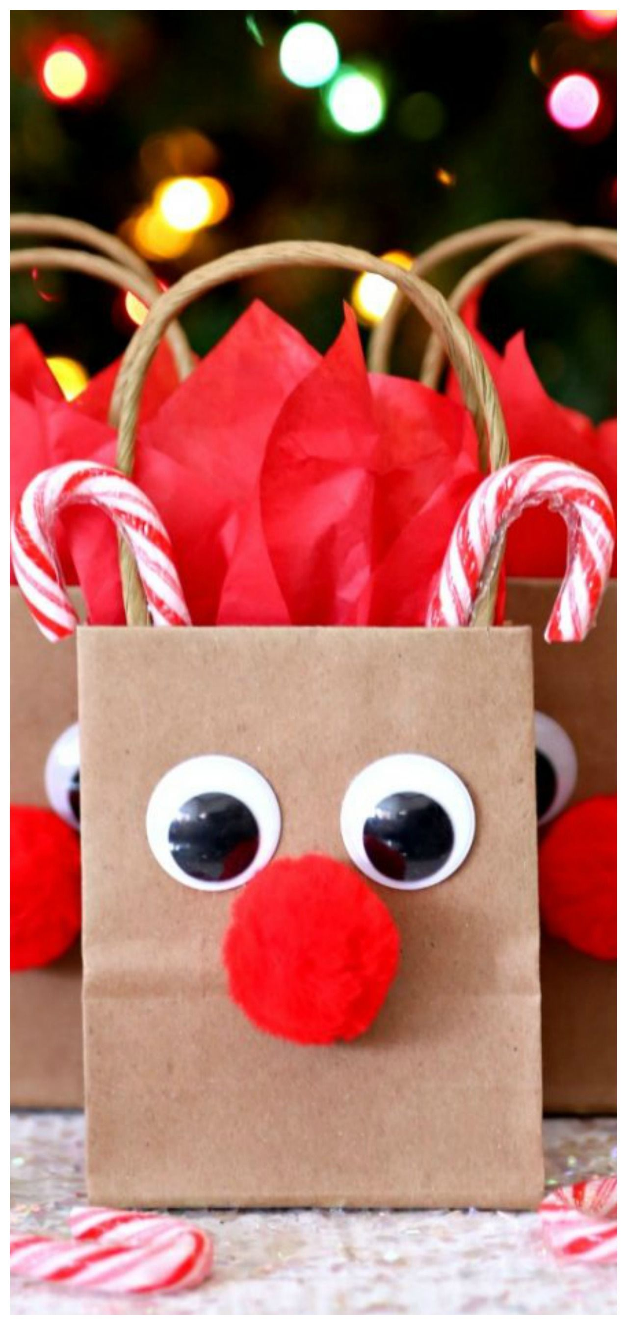 How To Make Reindeer Gift Bags
