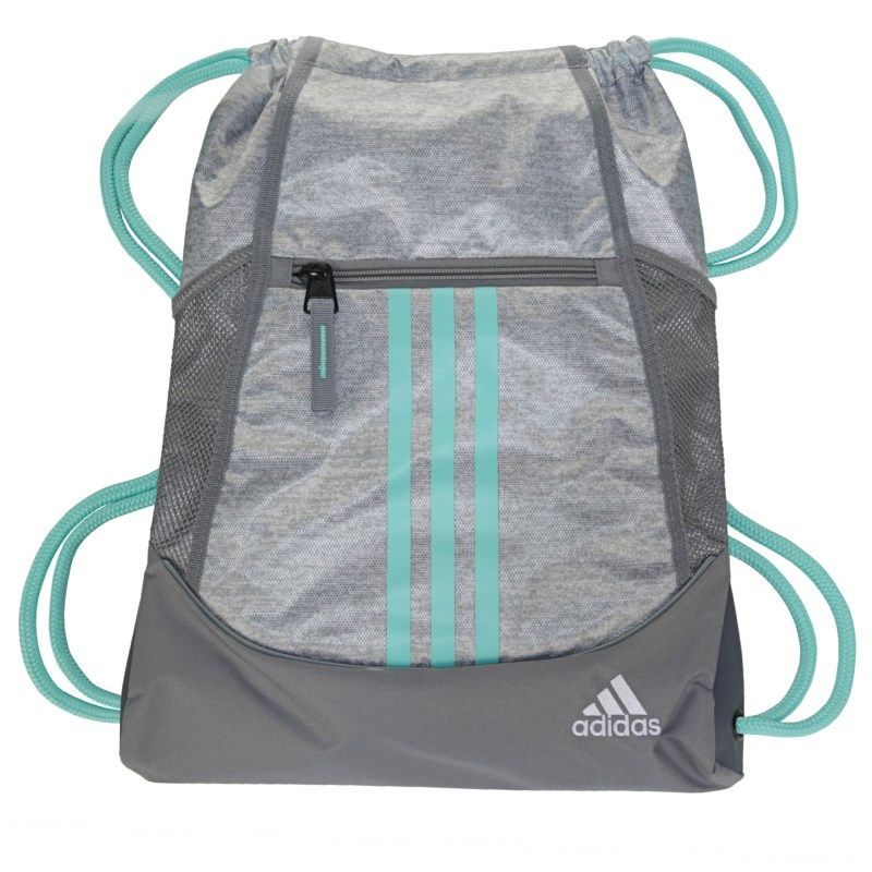 Adidas Alliance 2 Drawstring Backpack Accessories (Stone Jersey Aqua ... df7feea56e19c