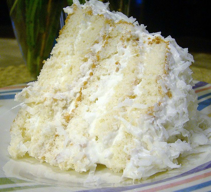 Easy Coconut Refrigerator Cake dont be fooled by the photo