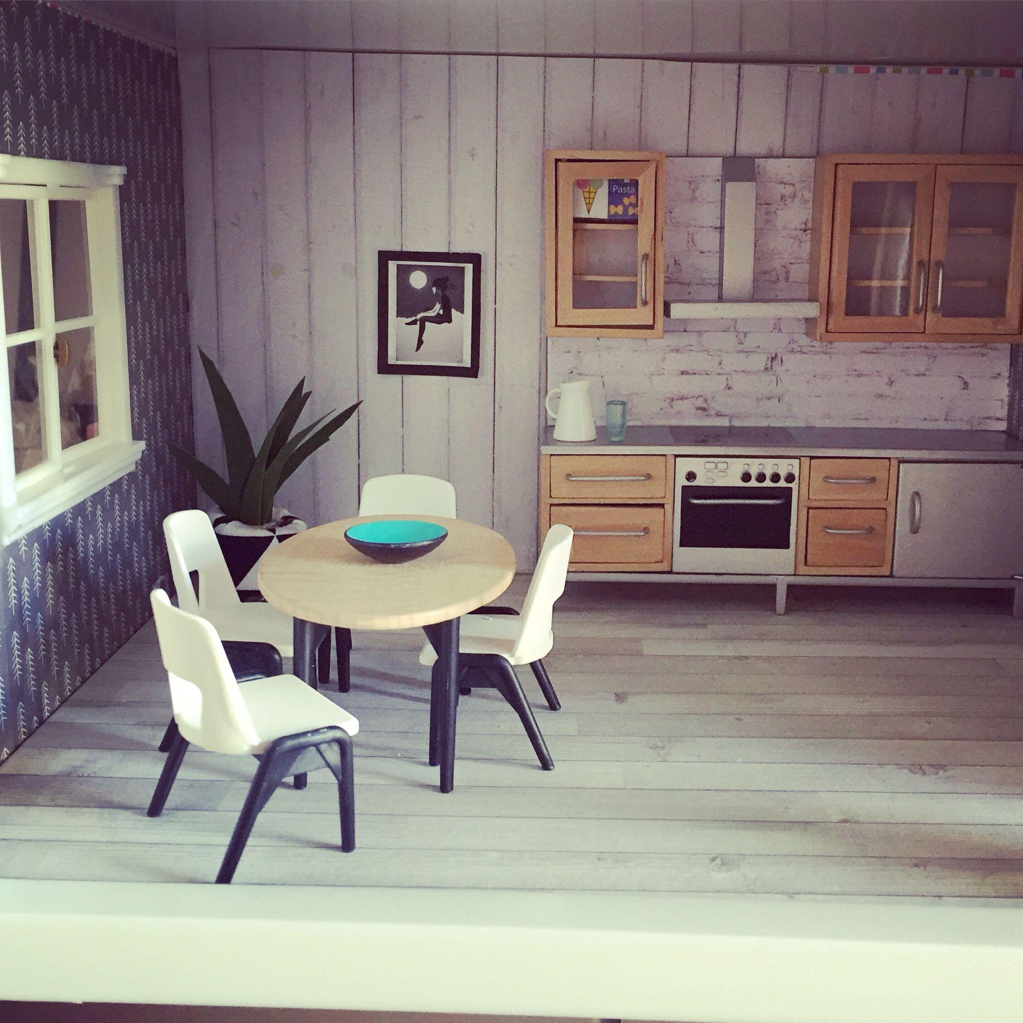 Dollhouse Miniatures Jensen: Lundby Dollhouse Renovation, Modern Miniatures, Doll House