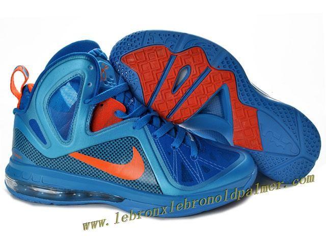 Nike LeBron 9 P.S. Elite Shoes Blue Orange Hot