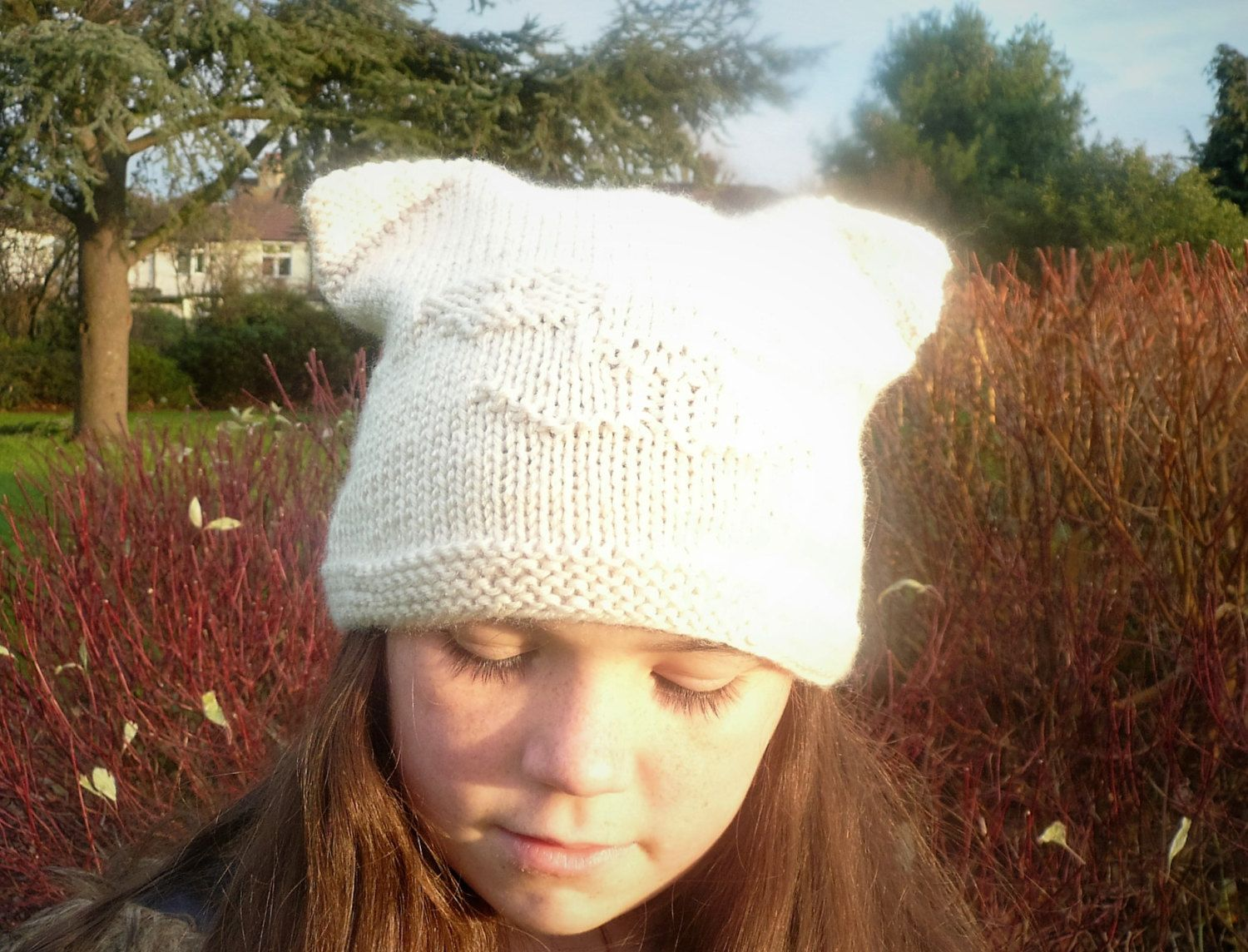 Cat Knit Hat Pattern with Ears, Quick & Easy Knit for Gifts ...