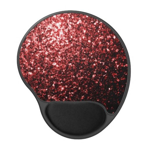 Beautiful Glamour Red Glitter sparkles Gel Mouse Mat by #PLdesign #RedSparkles #SparklesGift