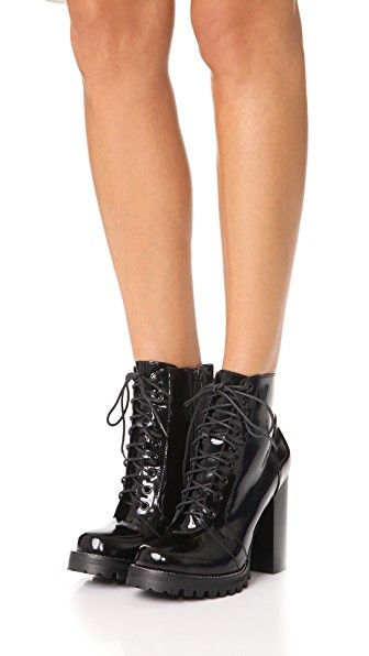 59ba2eff08e Legion Lace Up High Heel Booties | Baby it's ColdOutside | Lace up ...