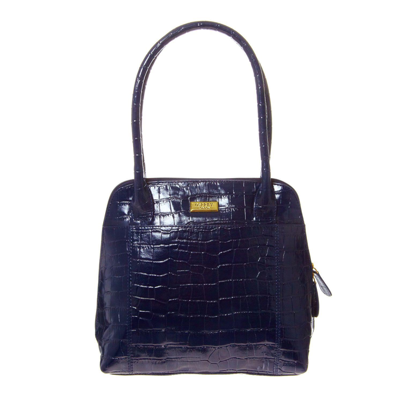 Osprey womens leather gloves - Osprey London Navy Leather Shoulder Bag