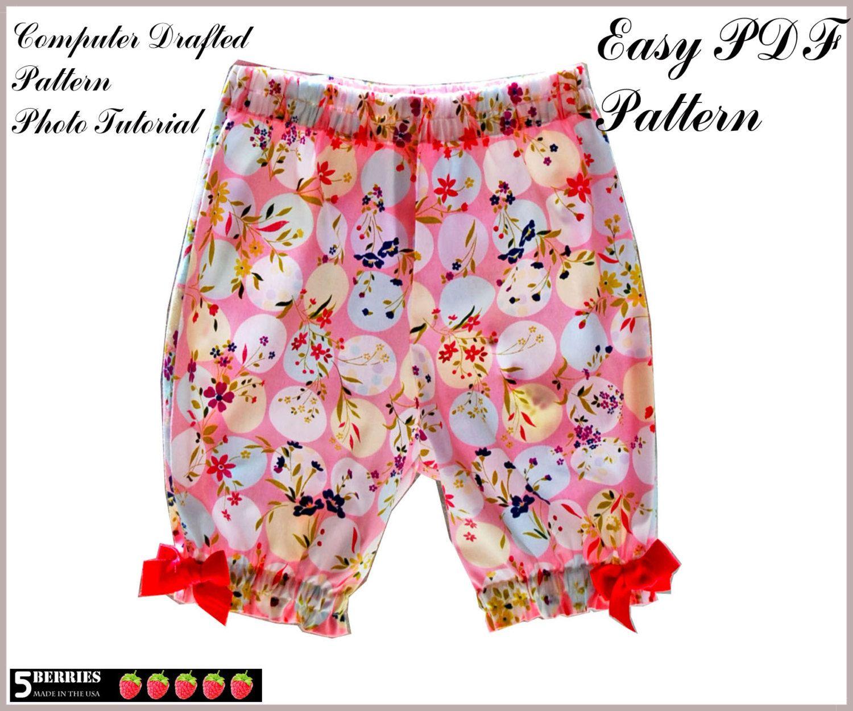 Girls Shorts Capri PATTERN + Free Mother-Daughter Apron Pattern ...
