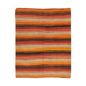 Vintage Kilim 4'7x5'9, $317, now featured on Fab.