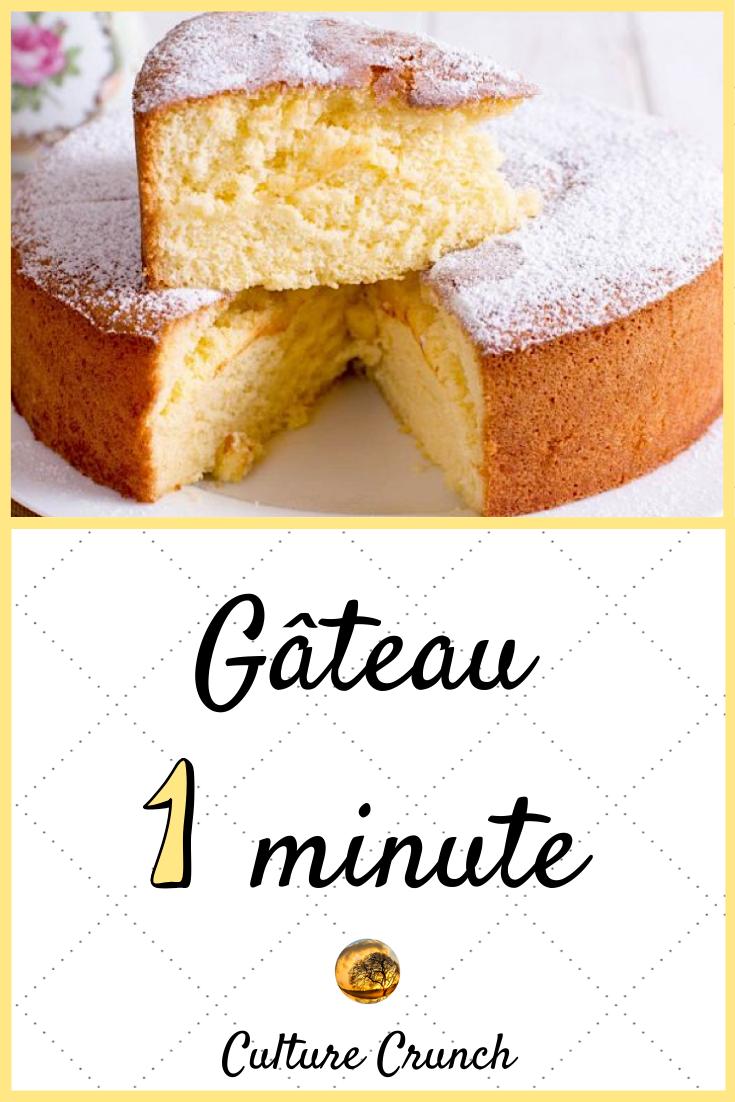 Gâteau 1 Minute La Recette Facile Recette Gateau Rapide Recette Gateau Facile Gâteau 3 Ingrédients