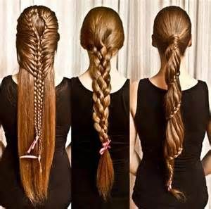 Lange Haare Frisur Geflochten Lange Haare Pinterest Hair