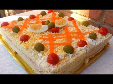 Aquí Tienes La Receta De Este Pastel Salado Con Pan De Molde Integral Y Atún Con Verduras Frescas Estupendo Para Bocadillos Gourmet Sandwichon Receta Tartas
