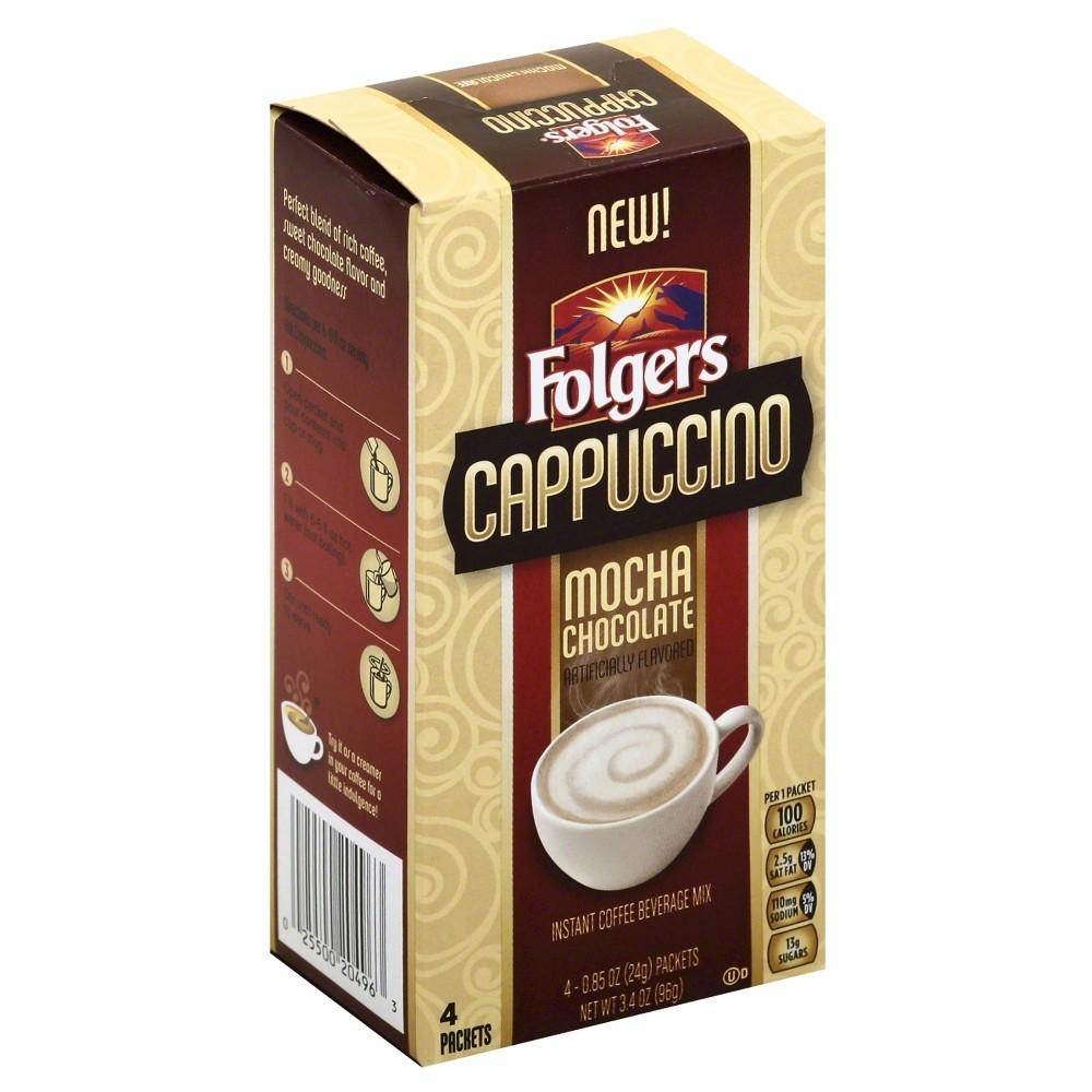 Folgers Cappuccino Mocha Chocolate 4 ct Vanilla drinks