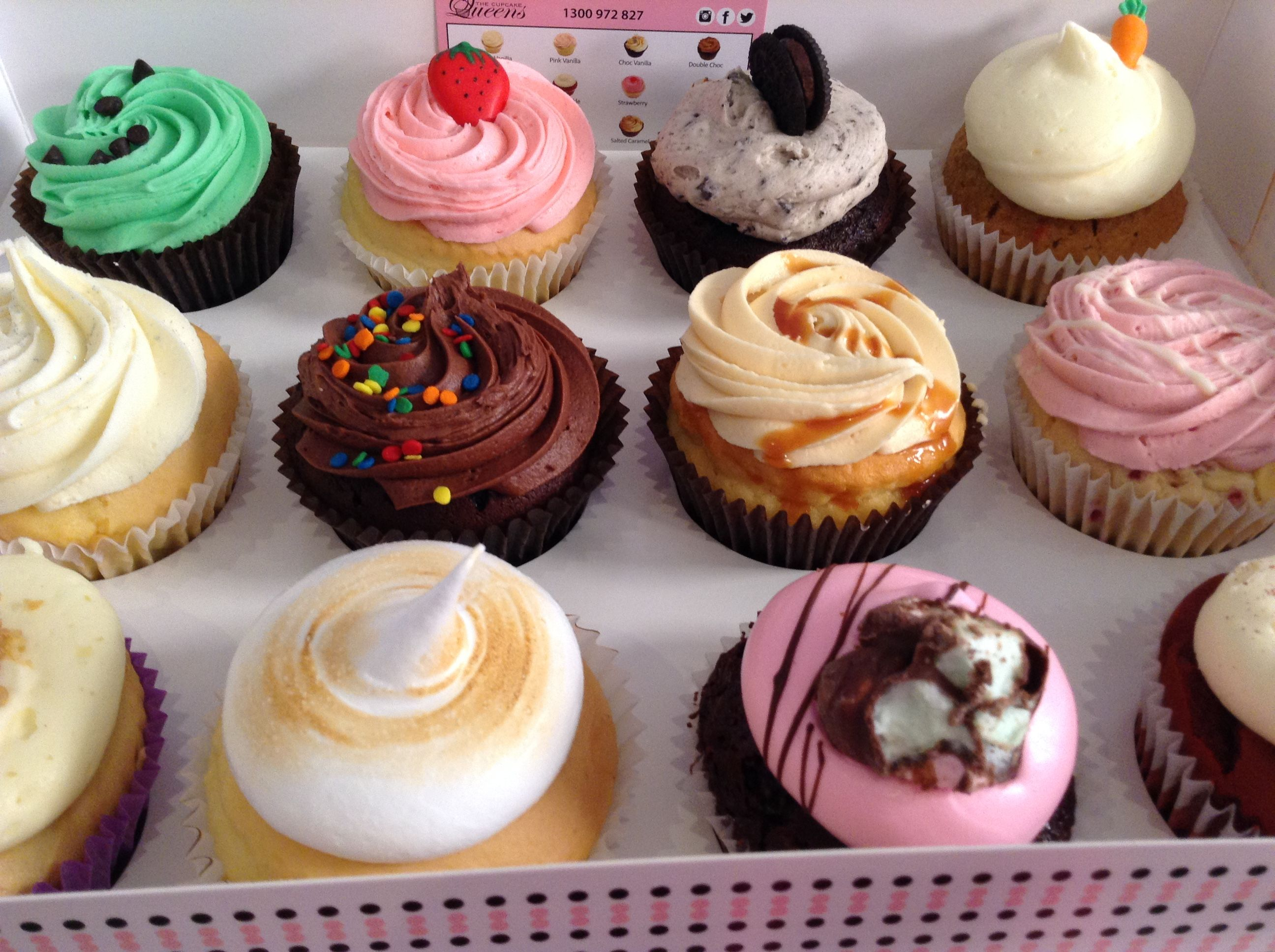Favourites our best selling cupcakes all lined up love