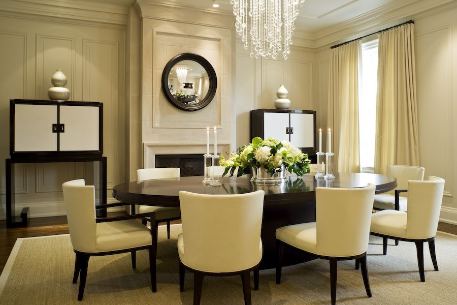 Lighitng in this dining room: Cascade Luminaire | Boyd Lighting