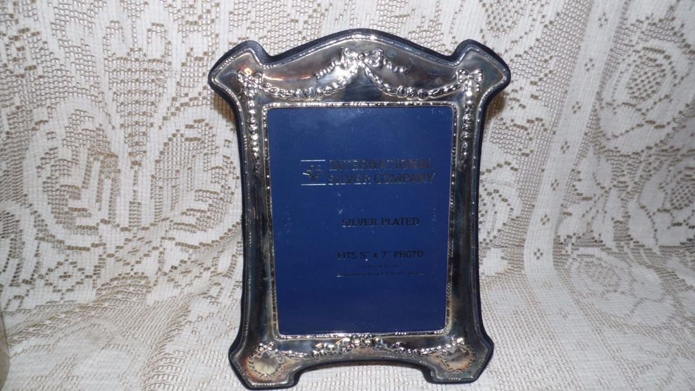 International Silver Company Silver Ornate Picture Frame Antiques