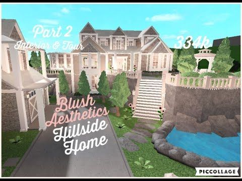 Roblox Bloxburg Blush Aesthetics Hillside Home Part 2 Interior And Tour 334k Youtube In 2020 Two Story House Design House Plans With Pictures My House Plans
