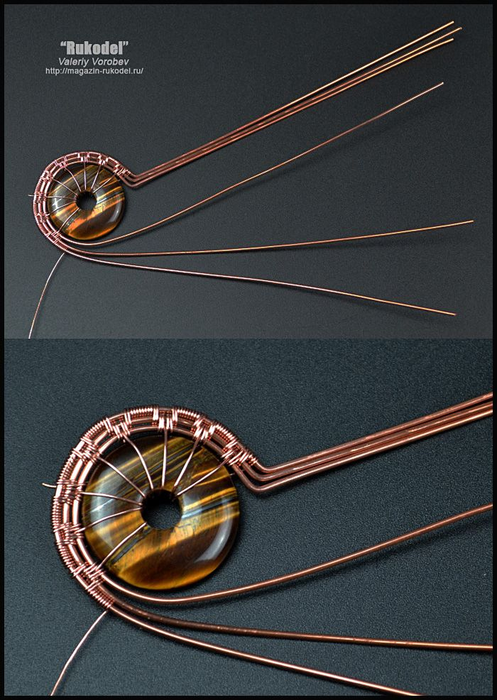 Photo of Wire wrap tutorial. Wire wrapped pendant. (104)