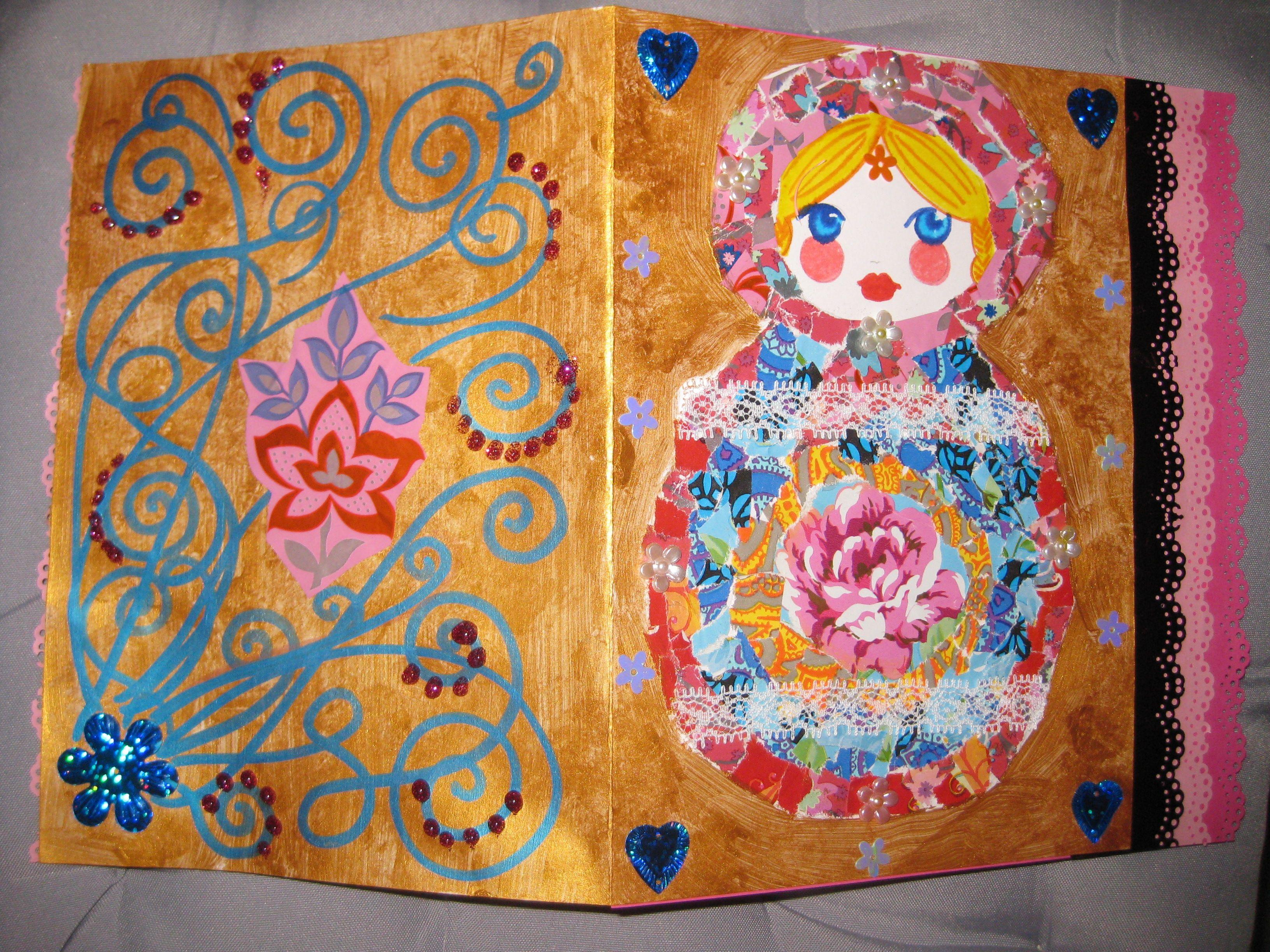 Souvent carte de nouvel an Matriochka | Arts visuels Maternelle  WW14