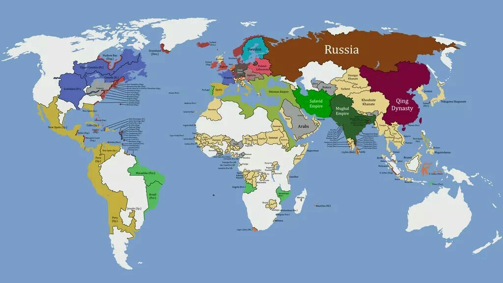 World map (circa 1700)  About History   | History (History is