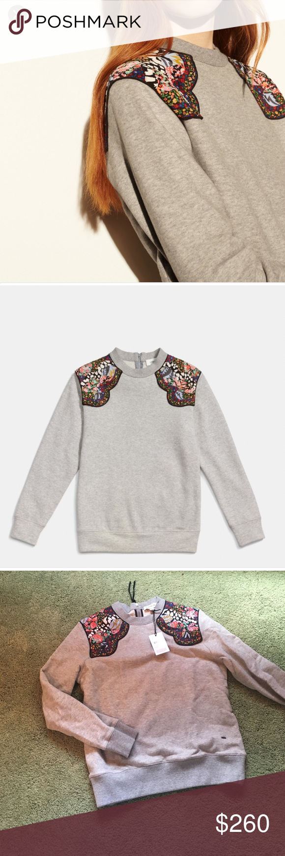 Coach western surf sweatshirt BNWT perfect condition. Lost the receipt so I cannot return it. Only reason I am selling is because it is too small. Coach Sweaters Crew & Scoop Necks
