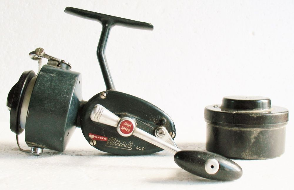 Vintage garcia mitchell 400 high speed spinning reel for Old mitchell fishing reels