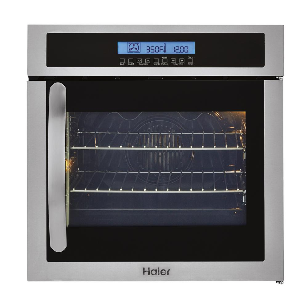 Haier 24 In Single Electric Right Swing Door Wall Oven With Convection In Stainless Steel Hcw225raes In 2020 Single Electric Wall Oven Electric Wall Oven Wall Oven