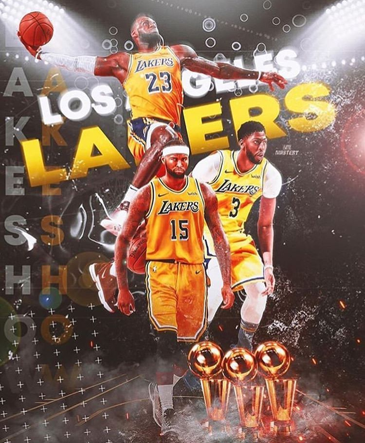 Watch Out For This Trio Lebron James Lakers Lakers Wallpaper Lakers