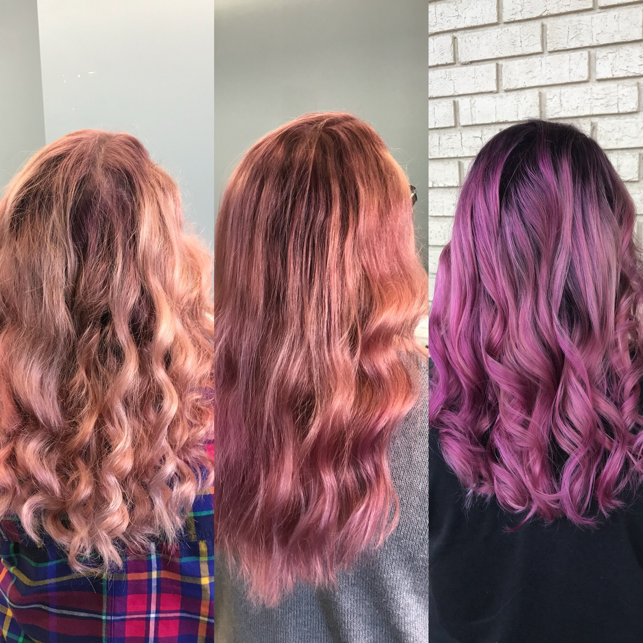 4 Wash 2 Washes And Day Dyed Purple Pink Hair And How It Fades Pink Purple Hair Pink Hair Purple Hair