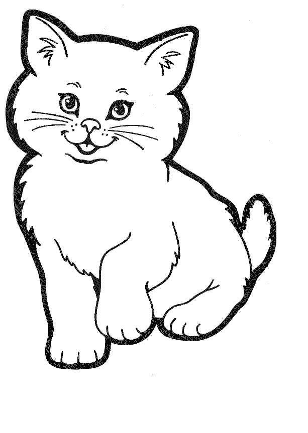 Disegni da colorare per bambini colorare e stampa animali for Disegno gatto facile