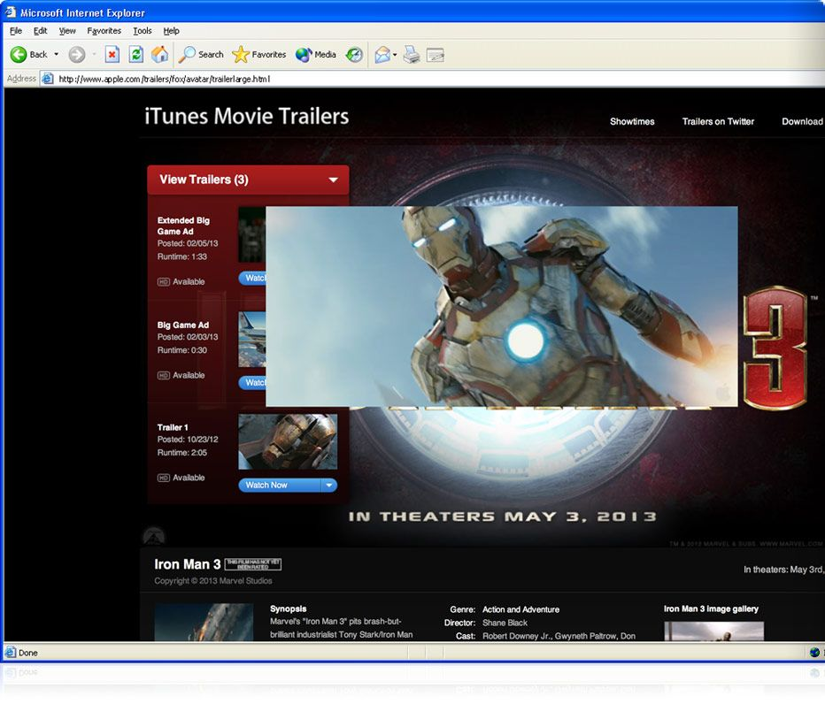 Apple quicktime download and watch videos movies and