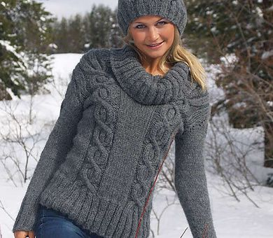 Picture Of Easy Cables Knit Sweater Pattern Diy Sweater Knitting