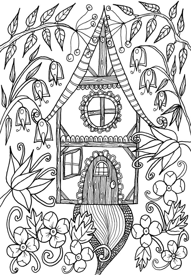 Little House by WelshPixie on DeviantArt | pictures to color ...