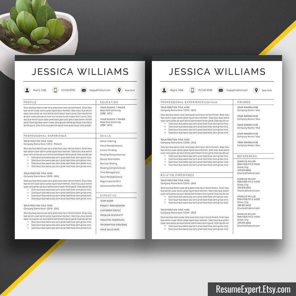 2020 Professional Resume Templates, CV Bundle, Compatible