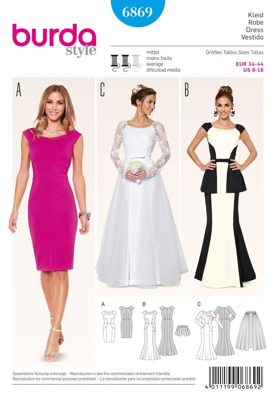 Kleid – Brautkleid – Überrock Schwierigkeitsgrad: mittel Gr. 34, 36 ...