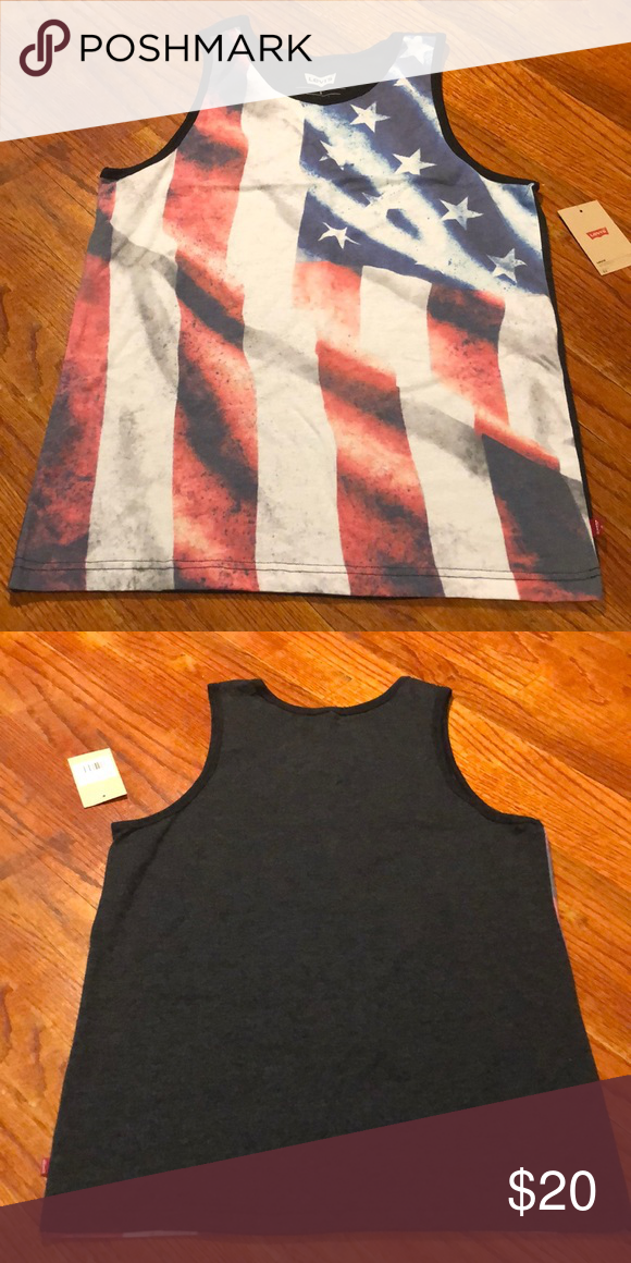 846c4545933aae NWT Levi s burnout flag tank Brand new with tags Levi s tank with a burnout  American flag front Levi s Shirts Tank Tops