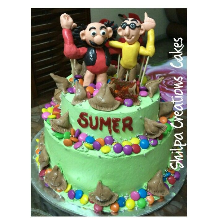 Motu Patlu Images For Birthday Cake : Motu Patlu Cake Shilpa Creations Cakes Pinterest Cake