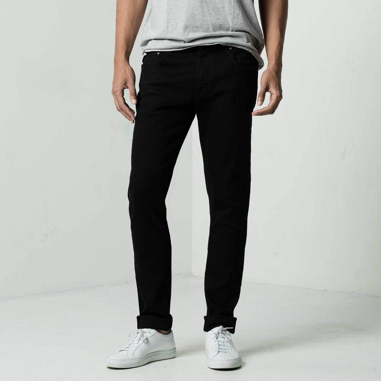 Mens Skinny Jeans In Stretch Jet Black Black Jeans Men Skinny Jeans Men Black Skinny Jeans [ 1500 x 1500 Pixel ]