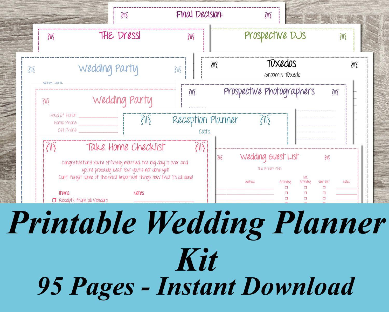 Best Free Wedding Planner Free Printable Wedding Planner