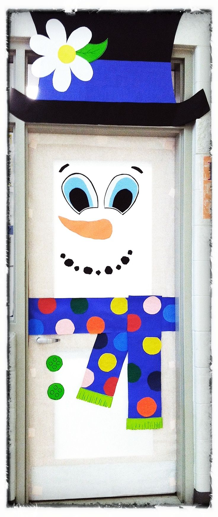 Decorate an office door for christmas office winter holiday door