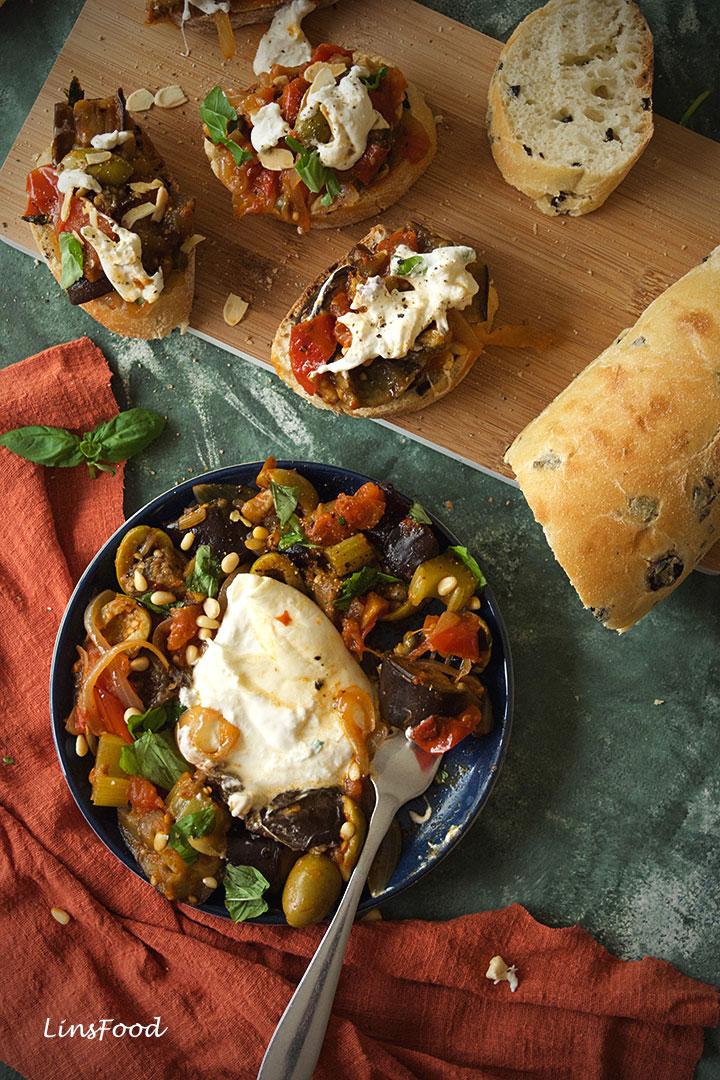 Caponata Recipe Fancy Some Burrata With That Recipe Appetizer Recipes Food Recipes Vegetable Salad