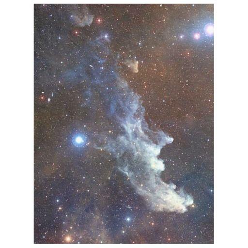 Witch head nebula fleece blanket