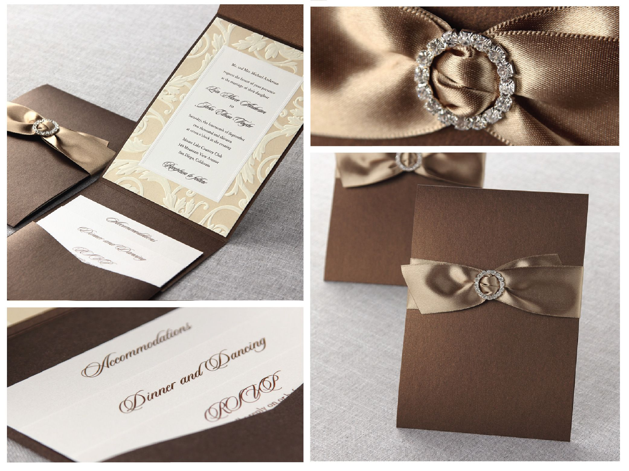 Embossed Swirl Frame by B Wedding Invitations  #weddinginvitations  #wedding  #invitations  #bweddinginvitations