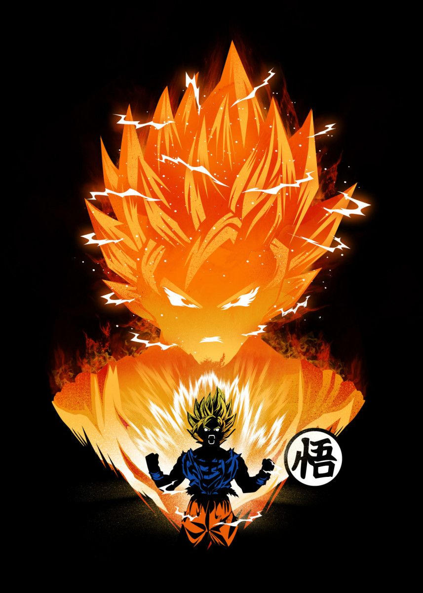 'The Angry Super Saiyan' Poster Print by Dan Fajardo | Displate