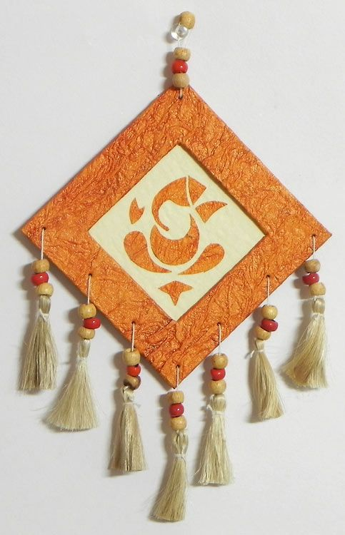 Ganesha wall hanging handmade paper crafty idea for Craft work with waste material