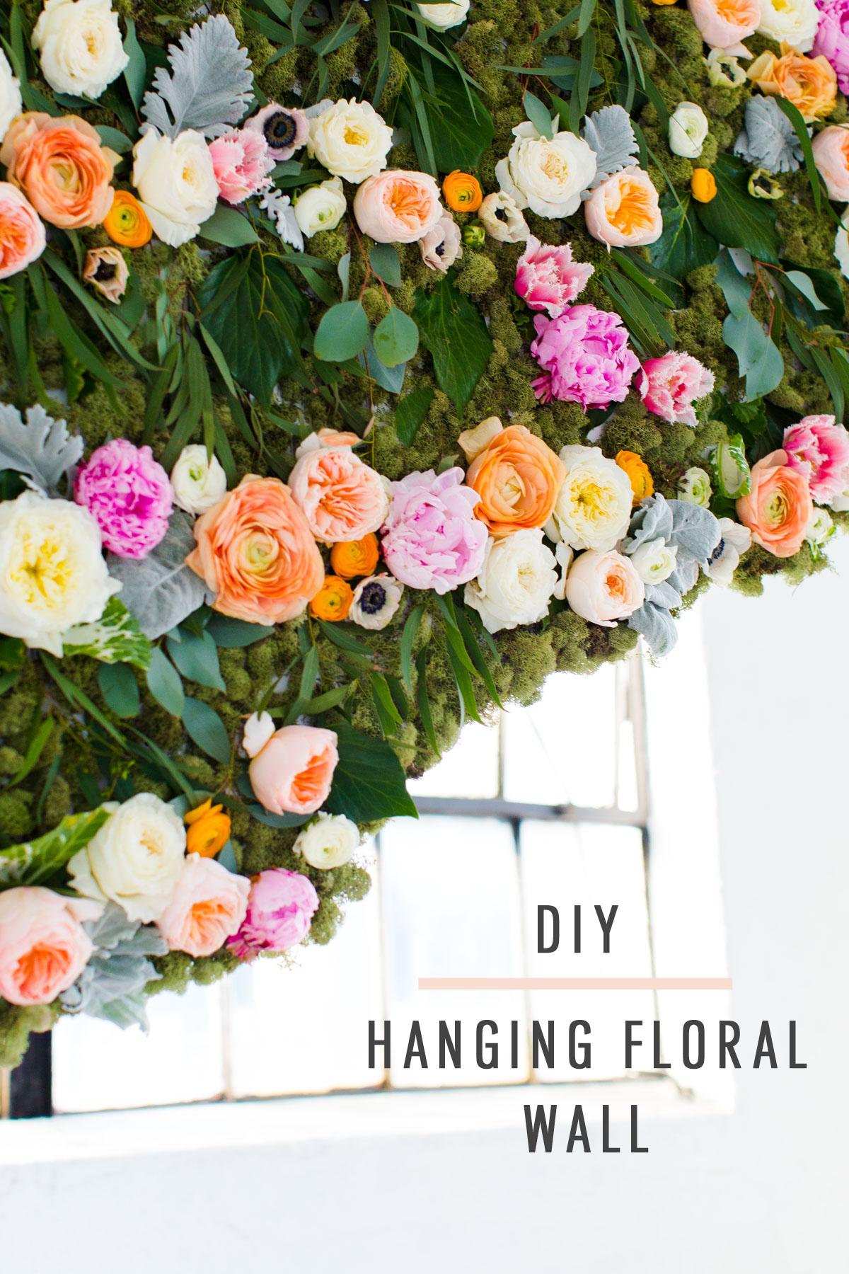 Diy Wall Flowers: DIY Hanging Flower Wall Installation