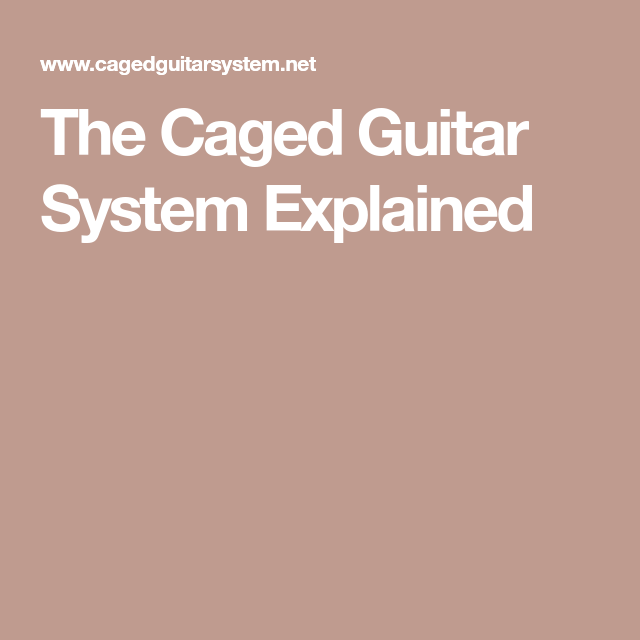 The Caged Guitar System Explained | Guitar chords | Pinterest ...