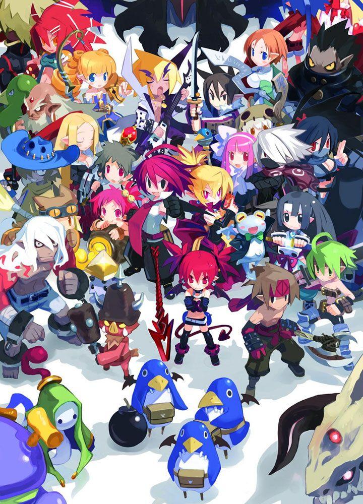 Box Cover Art Characters Art Disgaea 2 Cursed Memories Disgaea Anime Game Art
