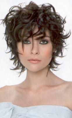 short haircuts for curly thin hair over 40 Google Search